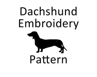 Dachshund Weiner Dog Embroidery Pattern PDF