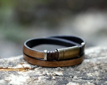 FREE SHIPPING leather bracelet, handmade, leather jewellery,  leather bracelet men, unisex bracelet,valentine's day gift,  armband herren