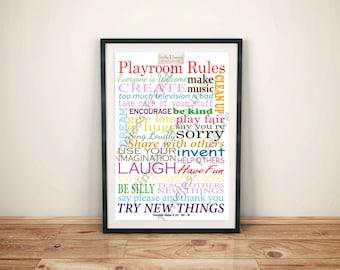 Kids (H) Playroom Rules