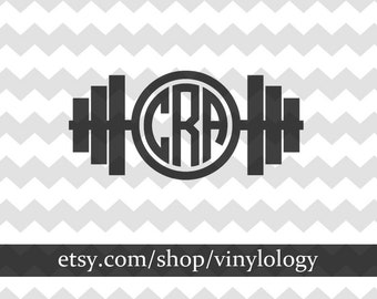 Weight Lifting Monogram, Weight Lifting Decal, Weights Decal, Weights Monogram, Lifter Monogram, Weight Lifting Gifts, Car Window Stickers