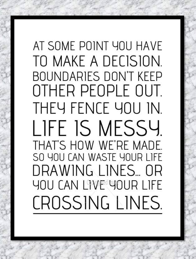 Drawing Lines Grey S Anatomy : Grey s anatomy print crossing lines quote