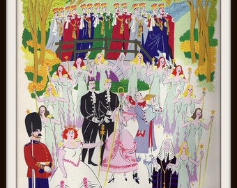 Iolanthe Gilbert + Sullivan Book Print (1941): Frameable Wall Art, Operetta Comic Theater, Fairy Queen, Arcadia, Romance Love, Music Song