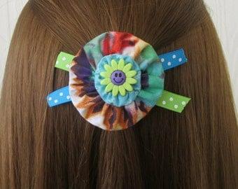 Happy Face YoYo Hair Clip, Tie Dye, Polka Dots, Daisy, eclectiKIDS