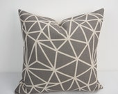 Gray Pillow cover  18x18, Gray Pillow, Gray Throw pillow, Decorative throw pillows, Pillow cases, Geometric Pillow, 18x18 pillow cover, gray
