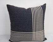 Black Pillow cover 18x18, Black Pillow, decorative pillow, Throw pillow, Cushion Cover, outdoor pillow, Geometric Pillow, 24x24 pillow cover