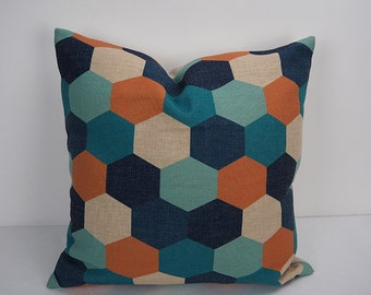 Pillow cover, 18x18 pillow, decorative pillow, Pillow cases, Decorative throw pillows, 20x20 pillow cover, Honeycomb pillow, printed pillow