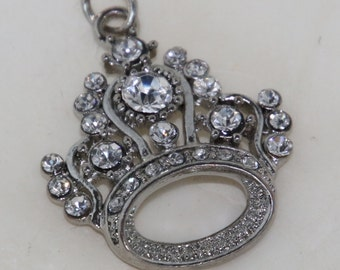 Princess Bling Crystal Pendant  Great for the Jewlery Maker