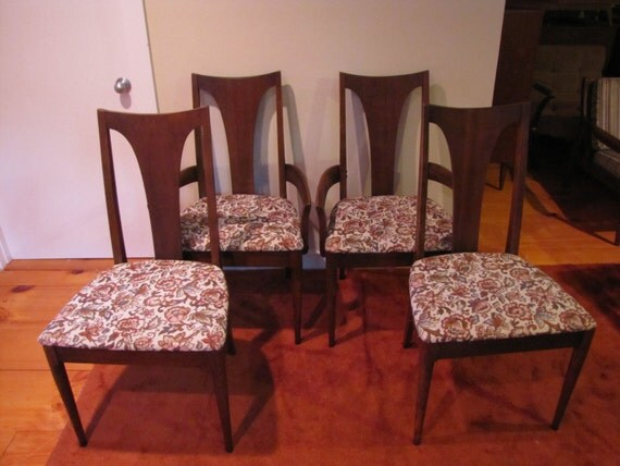 Broyhill Sculptra Brasilia Dining Chairs Set Of 4 Mid