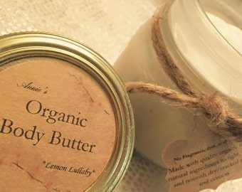 Organic Body Butter 8 ounces variety scents