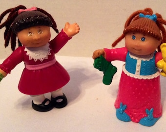 Dolls - 2 Cabbage Patch Kids - 1992 PVC 3in. Posable Figures