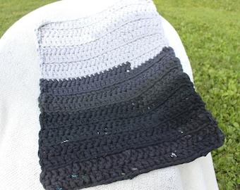Upcycled, Recycled Crochet Tshirt Rug. Tarn Rug