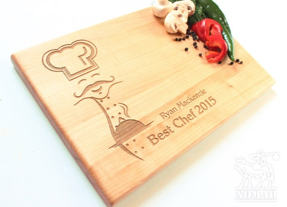 items similar to personalized chef cutting board best chef custom chopping block hostess gift housewarming gift birthday gift gourmet food gift on - Best Gift For A Chef