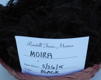 Raw Fleece,Black Merino Raw fleece, Organic Raw Fleece -MOIRA52615
