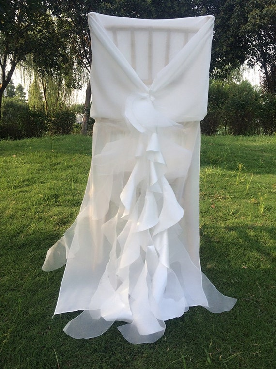 new wedding chiffon chair sash wrap jacket cover with