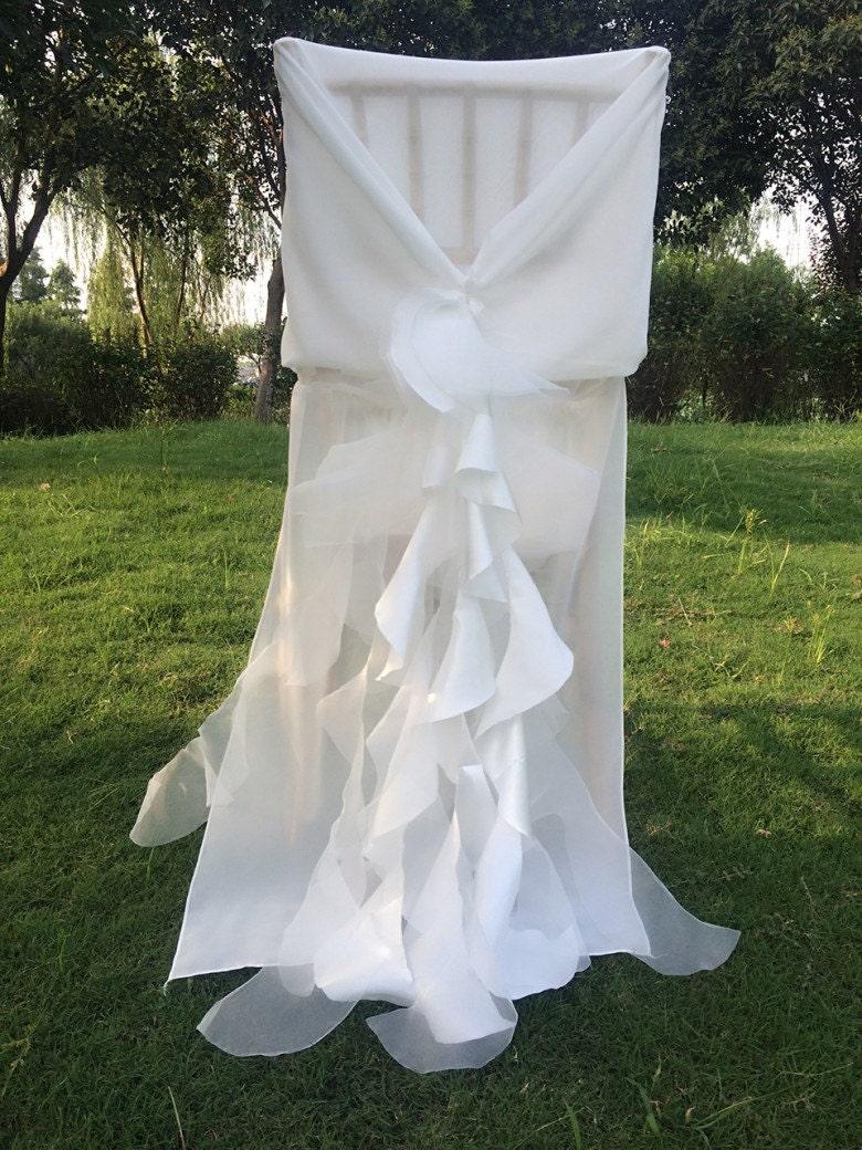 new wedding chiffon chair by lavishbridals on etsy