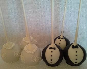 Wedding Bride-Groom Cake Pops
