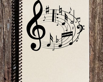 Music Notebook - Music Journal - Music of the Heart - Gift for Music Lover