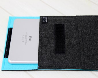 Mint kindle case, iPad mini case, iPad mini4 sleeve, 7 inch tablet case, felt iPad mini case, gray iPad mini case, 8 inch tablet sleeve