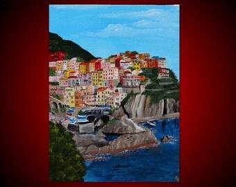 CINQUE TERRE - ITALY- Original painting