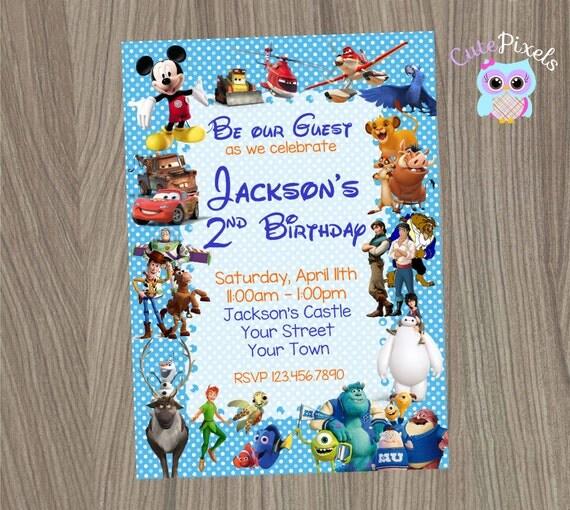 Disney Invitation Disney Boy Invitation Disney By CutePixels