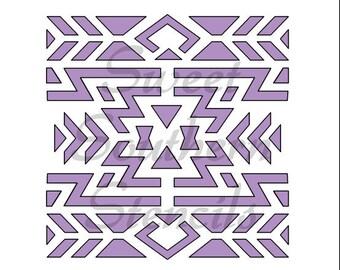 Large Aztec Design Stencil
