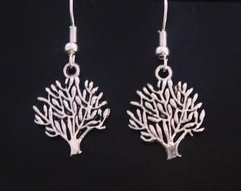 Dangle Earrings: Tree of Life Tibetan Silver Earrings, Celtic Tree Design in Bright Finish | Fashion Earrings, Drop Earrings TOLE025