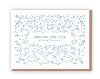 Sending Love and Sympathy Card // Letterpress