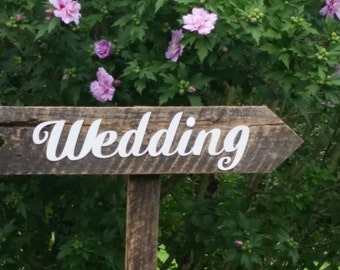 Barnwood Wedding Sign