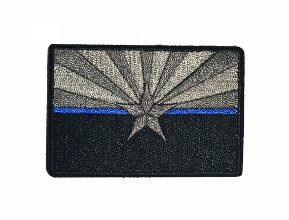 Subdued thin blue line arizona state flag patch for law enforcement