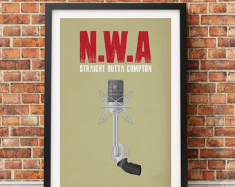 "Original Print Inspired by N.W.A.'s ""Straight Outta Compton"""