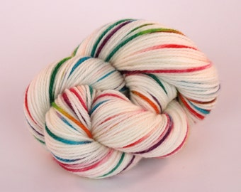 Hand Dyed Yarn - New Zealand Superwash Merino - DK - Unicorn Farts in Rainbow