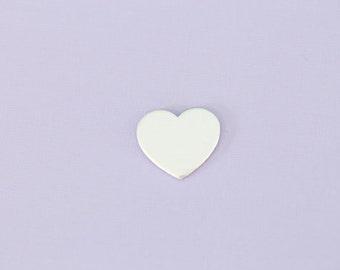 """Medium .77"""" Aluminum Heart Stamping Blank ~ 14G"""