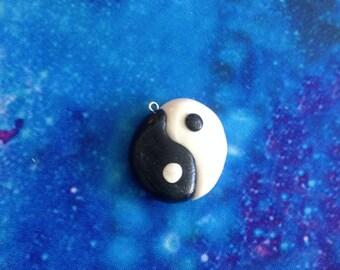 Kawaii Yin-Yang Polymer Clay Charm