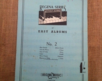 Vintage Sheet Music for Piano. 1940s Regina Series Of Easy Albums No. 2 (Without Octaves)