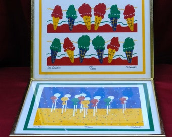 2 Framed Prints by Artist Last Name Schenk 1st-Ice Cream-2nd-Tootsies         00469