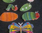 Very Hungry Caterpillar Felt Board Story //  Made with Iron On Transfer // Children //  Literature //  Flannel Board // Preschool //Creative