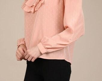 Cascade collar blouse