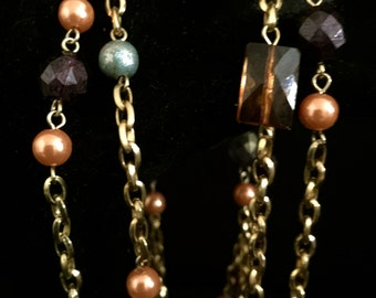 90's Long  Mixed Bead Necklace     VG1728
