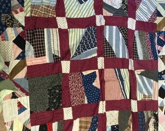Vintage Handmade Quilt Top, size 54x86