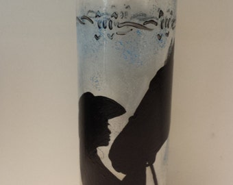 cowgirl/horse 18 oz glass water bottle