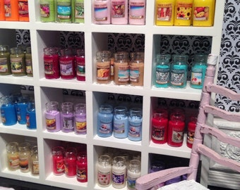 1:12 Scale Hand Crafted Miniature Dollhouse Jar Candle (30 colors to choose from)