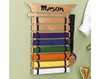 Personalized Karate Belt Display