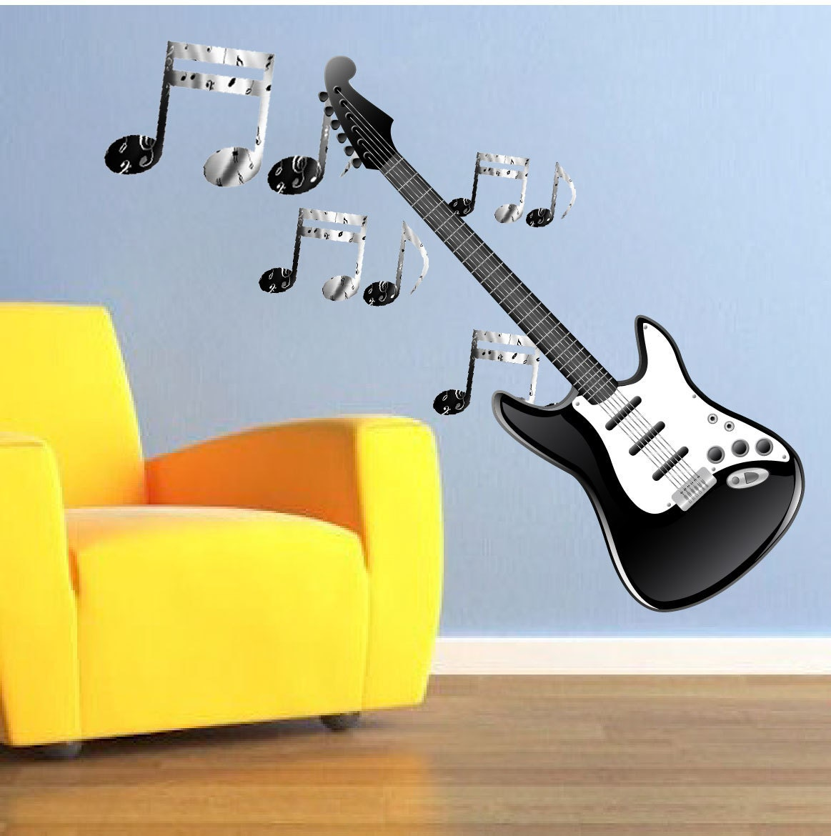 Music Decals, Music Notes Wall Sticker, Music Note Wall Design ...