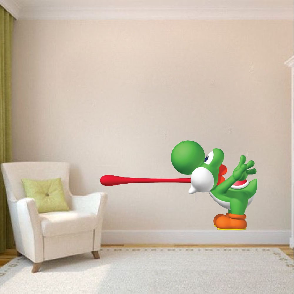 yoshi vinyl wall decal mario decals stickers laptop decal stickers nintendo wall decal