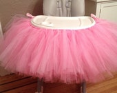 Pink Highchair Tutu, Pink High Chair Tutu, Highchair Tutu, 1st Birthday Tutu, Baby Girl Birthday Tutu