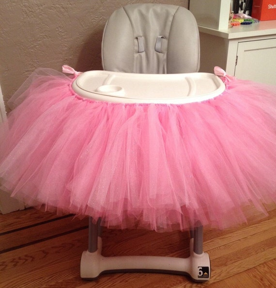 Pink Highchair Tutu Pink High Chair Tutu Highchair Tutu 1st