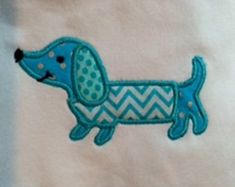 Appliqued & Personalized Dauchsund T shirt or Body suit