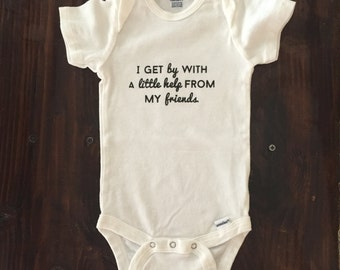 Hand Screened Baby One Piece Bodysuit - Baby Clothes - Baby Shower Gift - Baby Clothing  | Size: 18 months