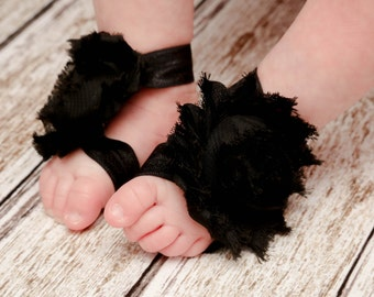 Baby Barefoot Sandals,Black Barefoot Sandals,Baby Sandals,Barefoot Sandals,Barefoot Sandals,Newborn Sandal,Baby Shoes