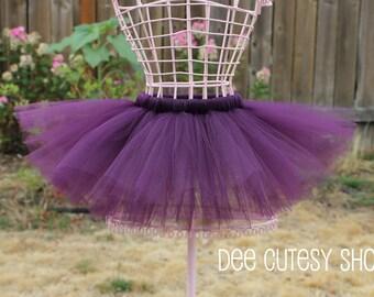 FREE Matching Headband, Purple Plum Tutu Set, Newborn Tutu, Baby Tutu, Toddler Tutu, Purple Tutu, Preemie to 24 mo, Made to Order